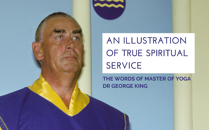 An illustration of true spiritual service