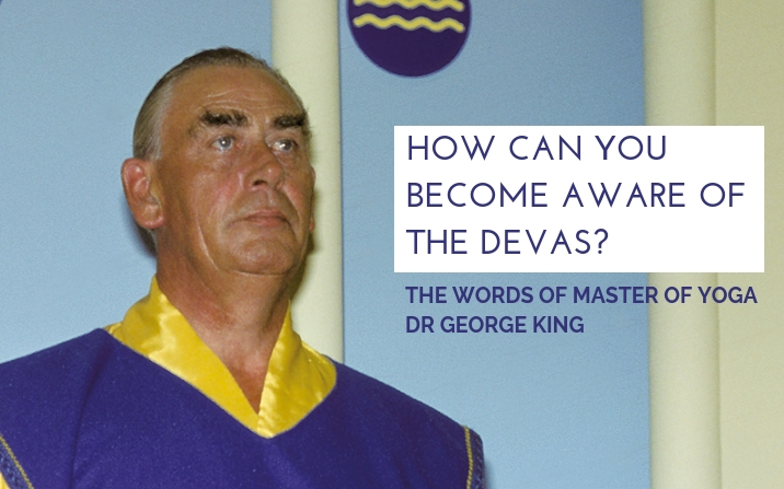 How can you become aware of the devas?